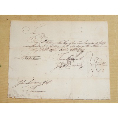 Revolutionary War Conn. Pay Order No 2542 c. 1779